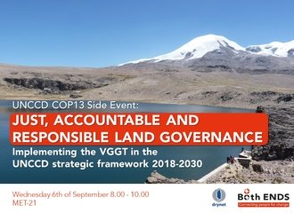 Side event: Just, accountable and responsible land governance