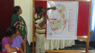 Water user map made by the community of Hogladanga, Bangladesh