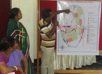 the final version of the social water users map in Hogladanga