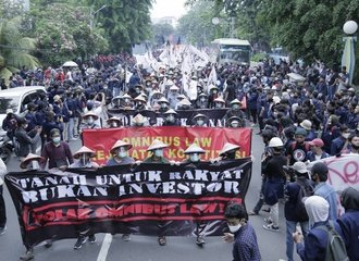 Protest against Omnibus Law in Jakarta