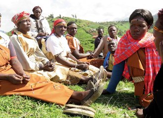 Sengwer Women's Traditional Singing Group meet at the cultural centre