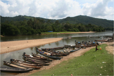 fisherboats in Batu Songgan Kampar river